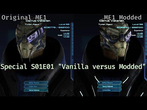 Mass Effect Original vs Modded 1; All three titles in a short comparison video. (PP Specials S01E01)